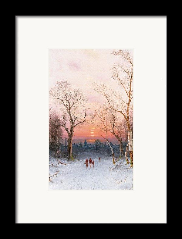 Going Home Framed Print By Nils Hans Christiansen