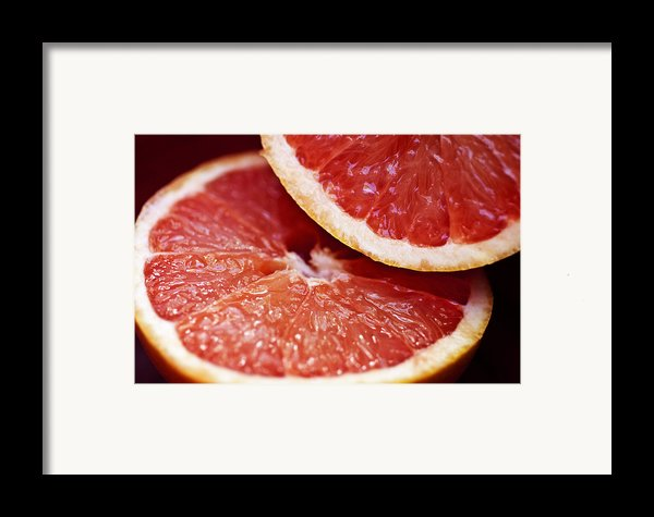 Grapefruit Halves Framed Print By Ray Laskowitz - Printscapes
