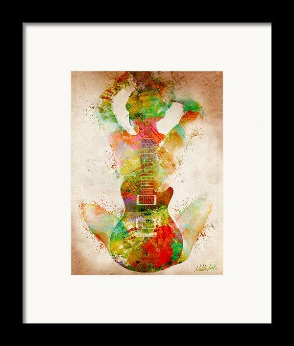 Guitar Siren Framed Print By Nikki Smith