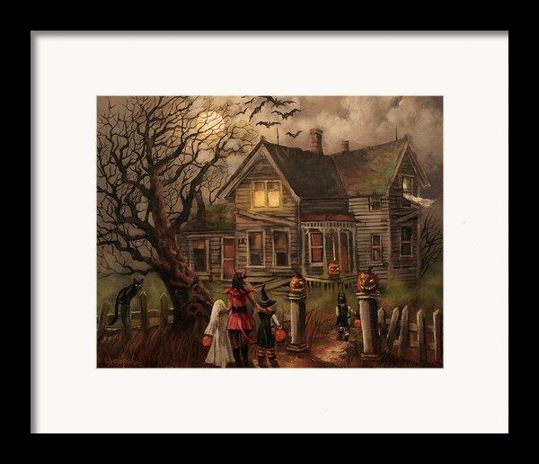 Halloween Dare Framed Print By Tom Shropshire