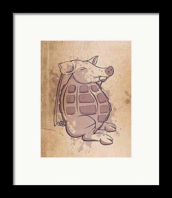 Ham-grenade Framed Print By Joe Dragt
