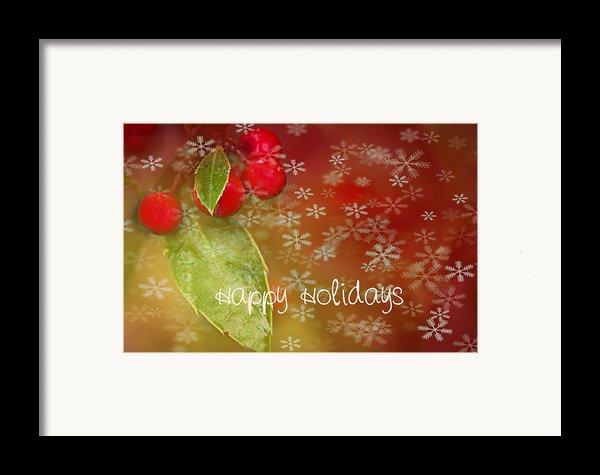 Happy Holidays Framed Print By Rebecca Cozart