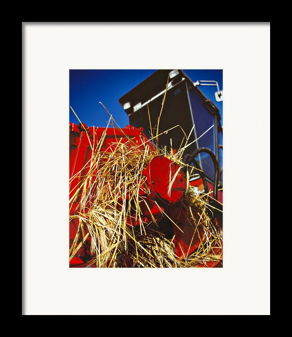 Harvesting Framed Print By Meirion Matthias