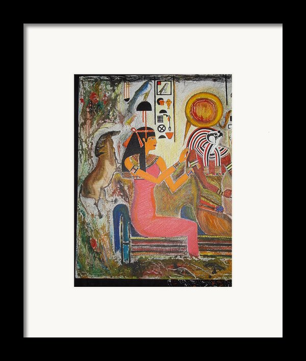 Hathor And Horus Framed Print By Prasenjit Dhar