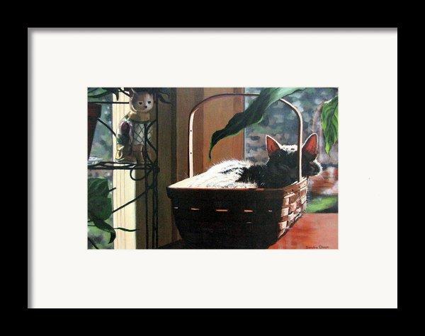 Her Basket Framed Print By Sandra Chase