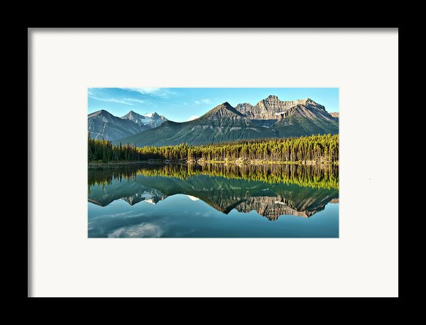 Herbert Lake - Quiet Morning Framed Print By Jeff R Clow