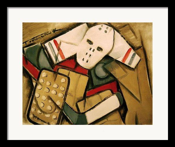 Hockey Goalie Framed Print By Tommervik