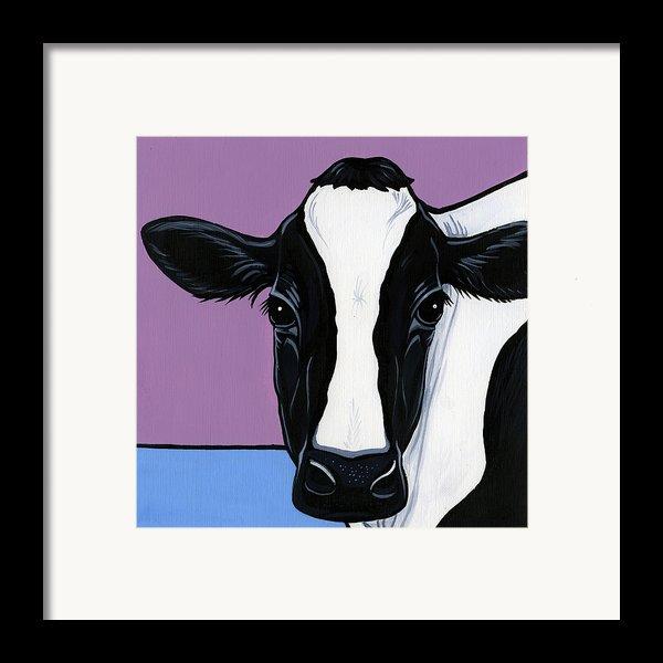 Holstein Framed Print By Leanne Wilkes