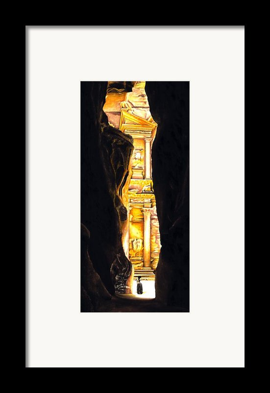 Homage To Petra Framed Print By Richard Young