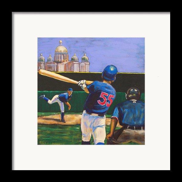Home Run Framed Print By Buffalo Bonker