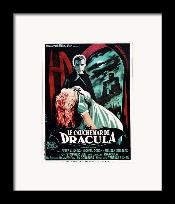 Horror Of Dracula Aka Le Cauchemar De Framed Print By Everett