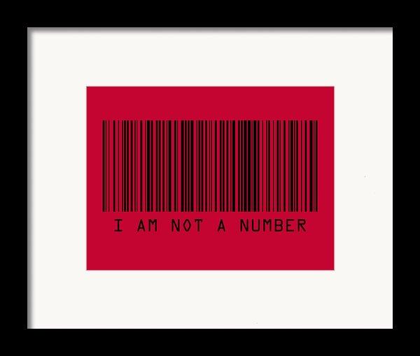 I Am Not A Number Framed Print By Michael Tompsett