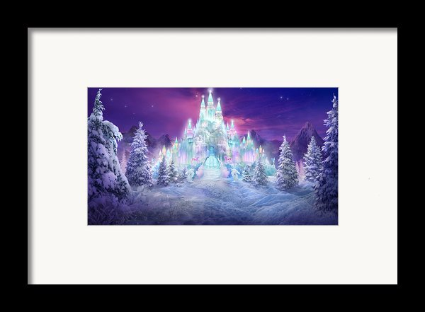 Ice Castle Framed Print By Philip Straub