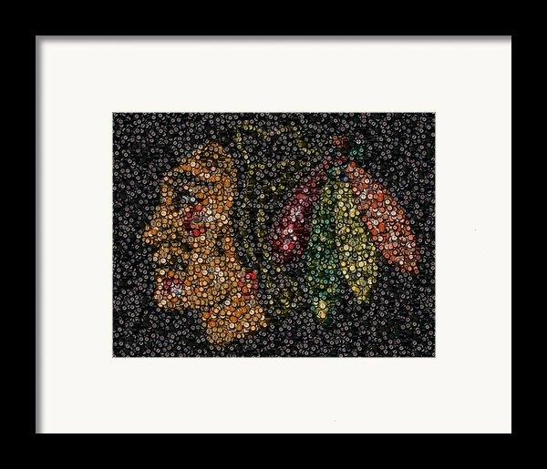 Indian Hockey Puck Mosaic Framed Print By Paul Van Scott