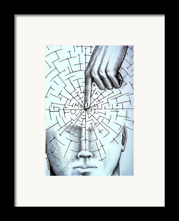 Infer About The Reality Framed Print By Paulo Zerbato