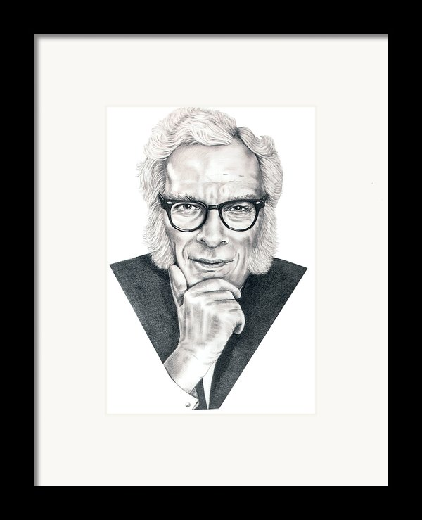 Isaac Asimov Framed Print By Murphy Elliott