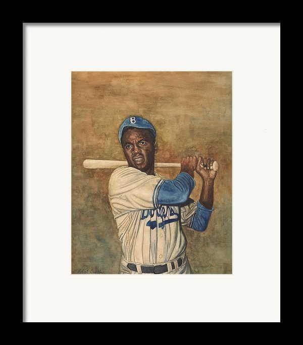 Jackie Robinson Framed Print By Robert Casilla