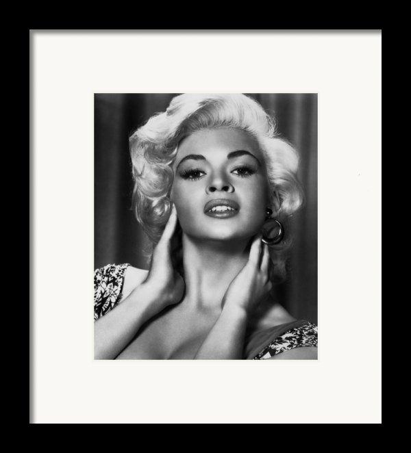Jayne Mansfield, Ca. 1950s Framed Print By Everett
