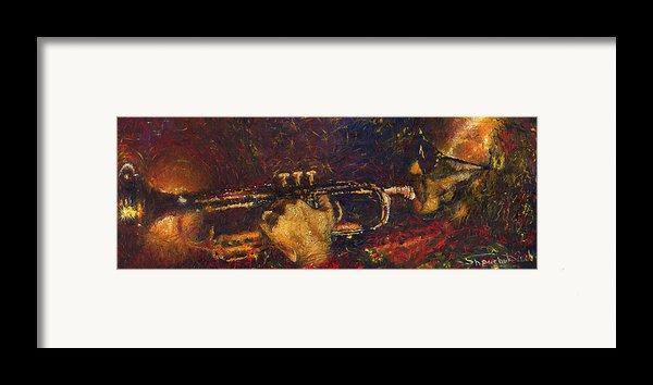 Jazz Miles Davis  Framed Print By Yuriy  Shevchuk