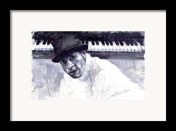 Jazz Roberto Fonseca Framed Print By Yuriy  Shevchuk