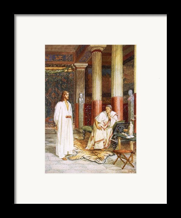 Jesus Being Interviewed Privately Framed Print By William Brassey Hole