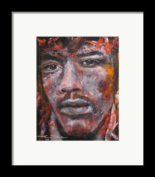 Jimi Hendrix Manic Depression Framed Print By Eric Dee
