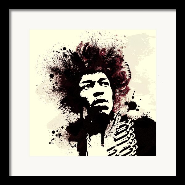 Jimi Framed Print By Laurence Adamson