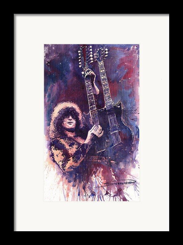 Jimmy Page  Framed Print By Yuriy  Shevchuk