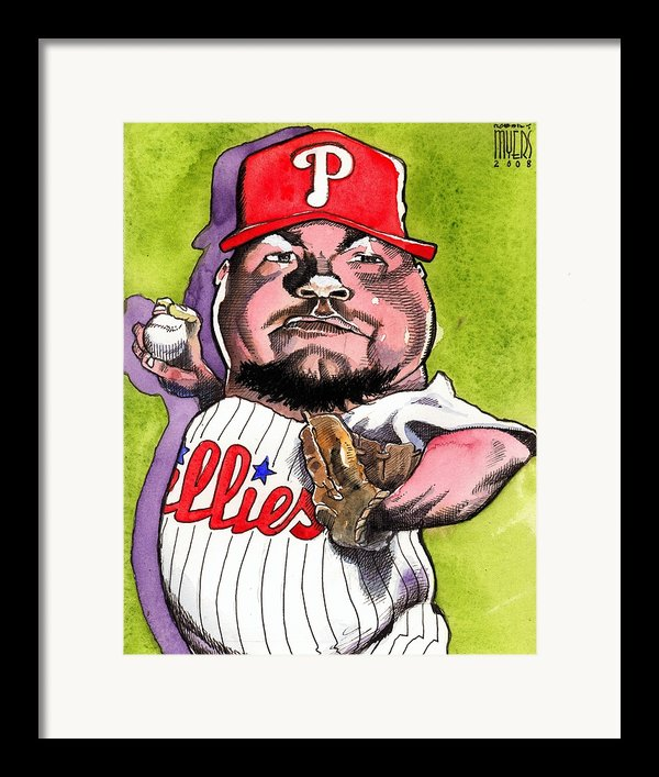 Joe Blanton -phillies Framed Print By Robert  Myers