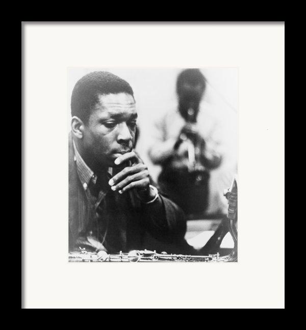 John Coltrane 1926-1967, Master Jazz Framed Print By Everett