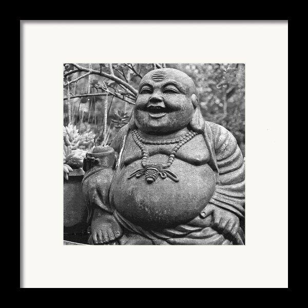 Joyful Lord Buddha Framed Print By Karon Melillo Devega