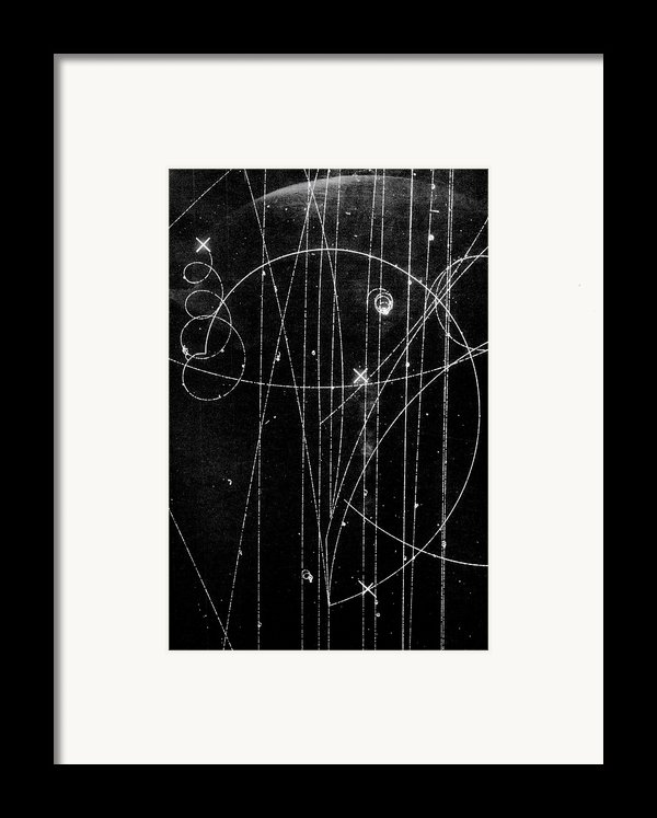 Kaon Proton Collision Framed Print By Spl And Photo Researchers