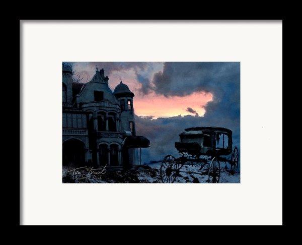 Keg And Carriage Framed Print By Tom Straub