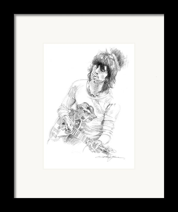 Keith Richards Exile Framed Print By David Lloyd Glover