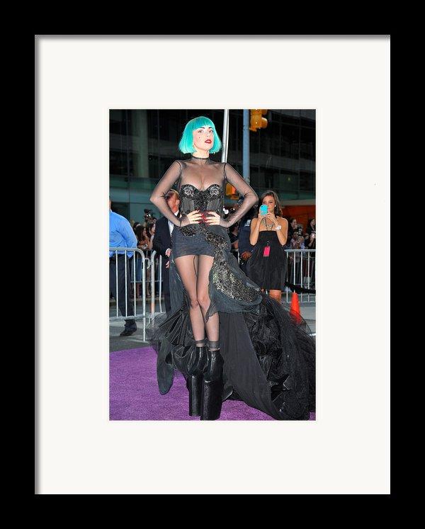 Lady Gaga Wearing A Custom Mugler Framed Print By Everett