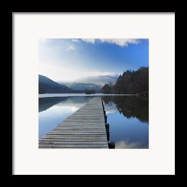 Lake Chambon. Auvergne. France Framed Print By Bernard Jaubert