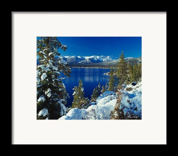 Lake Tahoe Winter Framed Print By Vance Fox