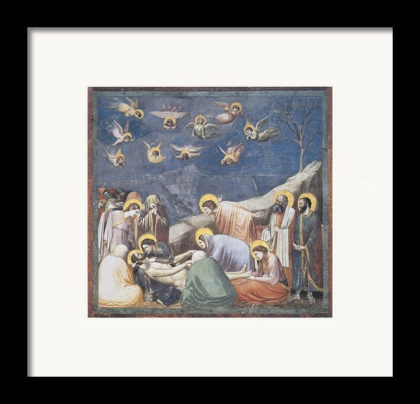 Lamentation Framed Print By Giotto Di Bondone