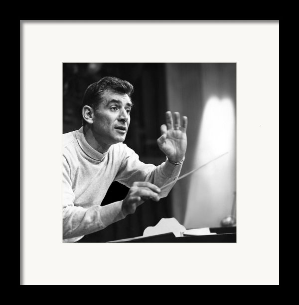 Leonard Bernstein, 1960 Framed Print By Everett