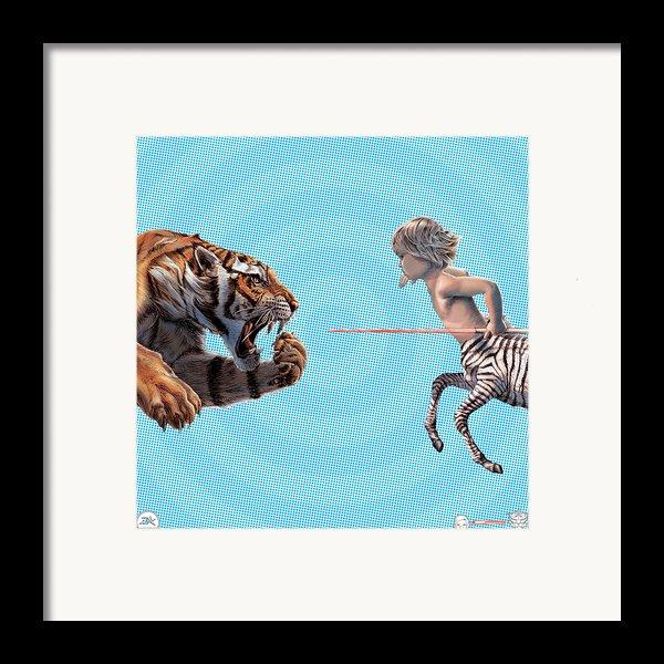 Liger  Swift Hand Framed Print By David Starr