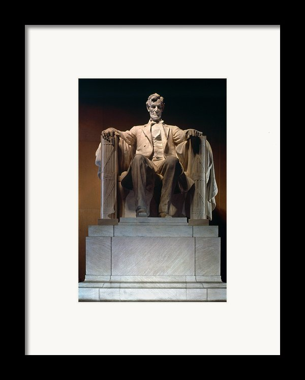 Lincoln Memorial: Statue Framed Print By Granger