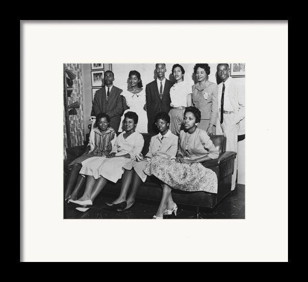 Little Rock Nine And Daisy Bates Posed Framed Print By Everett
