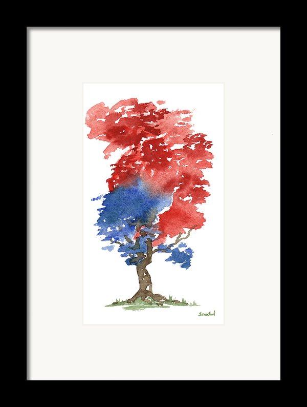 Little Zen Tree 292 Framed Print By Sean Seal