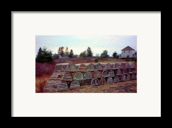 Lobster Traps Framed Print By Jeff Kolker