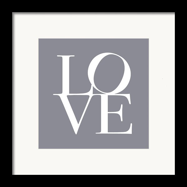 Love In Grey Framed Print By Michael Tompsett