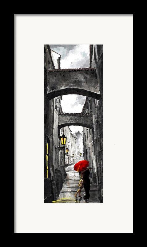 Love Story Framed Print By Yuriy  Shevchuk