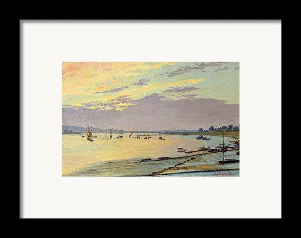 Low Tide Framed Print By W Savage Cooper