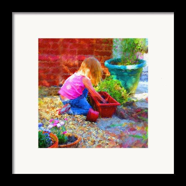 Lucys English Garden Framed Print By Marilyn Sholin