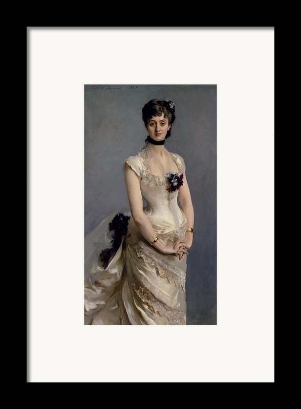 Madame Paul Poirson Framed Print By John Singer Sargent