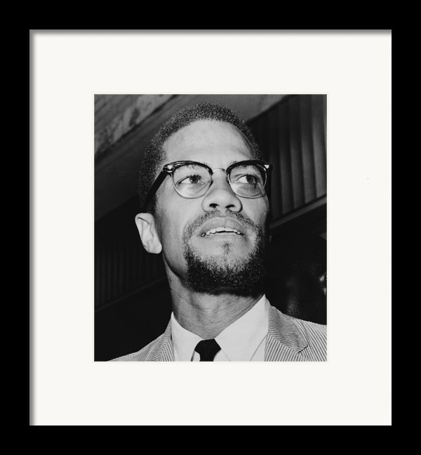 Malcolm X 1925-1965 In 1964, The Year Framed Print By Everett